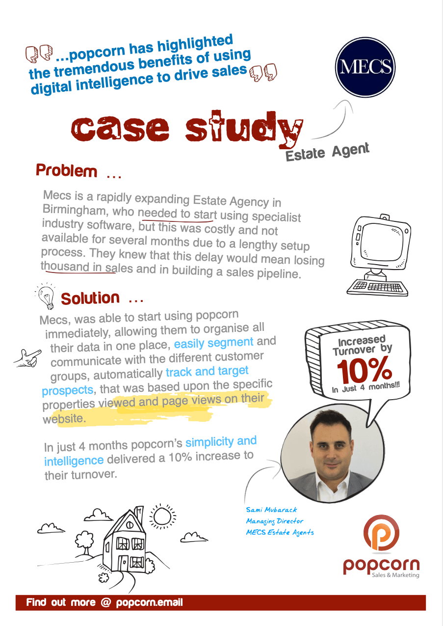 Mecs Estate Agency - popcorn Case study